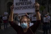 Protest proti zatýkaniu v Barcelone.