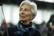 Na archívnej snímke z februára 2020 šéfka Európskej centrálnej banky Christine Lagardová v Štrasburgu.