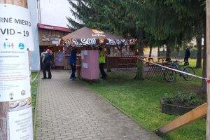 V Liptovskej Ondrašovej je odberné miesto vonku.