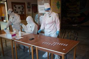 Testovanie v Liptovskom Mikuláši.