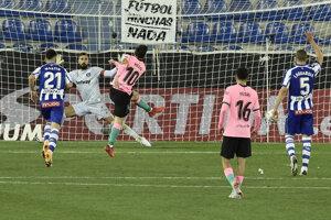 Lionel Messi a FC Barcelona v zápase proti Alaves.