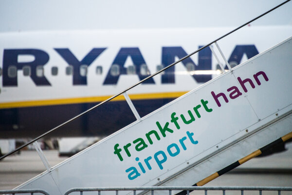 Lietadlo írskej leteckej spoločnosti Ryanair.