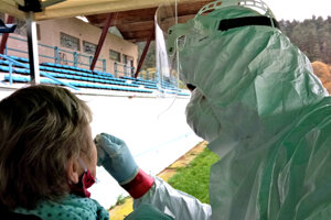 Testovanie na futbalovom štadióne v Čadci.