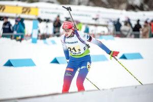 Slovenská biatlonistka Henrieta Horvátová.