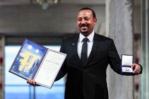 Abiy Ahmed s Nobelovou cenou za mier.