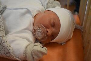 Tobias Monček (3830 g, 52 cm) sa narodil 16. októbra Denise a Lukášovi z Bolešova.
