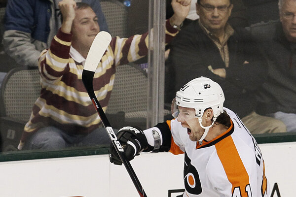 Andrej Meszároš v drese Philadelphie Flyers.
