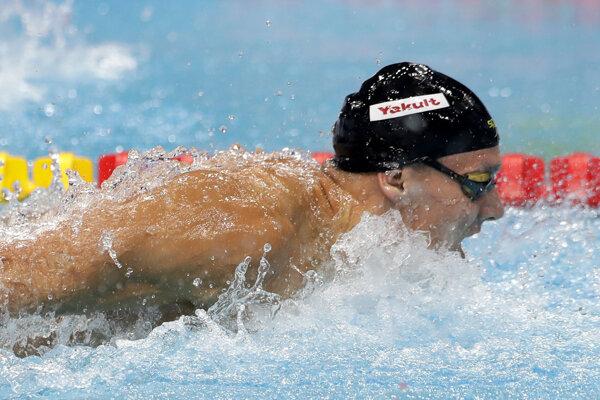 Americký plavec Caeleb Dressel.