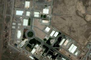 Na satelitnej snímke od GeoEye zverejnenej 21. septembra 2009 je pohľad na závod pre obohacovanie uránu v iránskom meste Natanz.