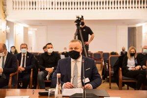 Juraj Kliment pred výborom,