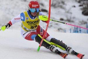 Švajčiarka Melanie Meillardová v 2. kole prvého slalomu novej sezóny Svetového pohára v alpskom lyžovaní žien vo fínskom Levi.