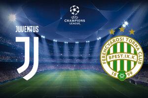 Futbal Juventus Turín - Ferencváros Budapešť, Liga majstrov dnes LIVE stream.