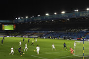 Momentka zo zápasu Leeds United - Arsenal Londýn.