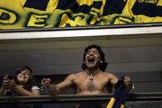Diego Maradona na fotografii z roku 2008.