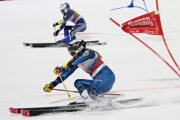 Paula Moltzanová (v popredí) bola senzáciou paralelného obrovského slalomu v Lechu.