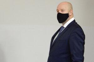 Pavol Rusko na procese v kauze prípravy vraždy Sylvie Klaus-Volzovej.