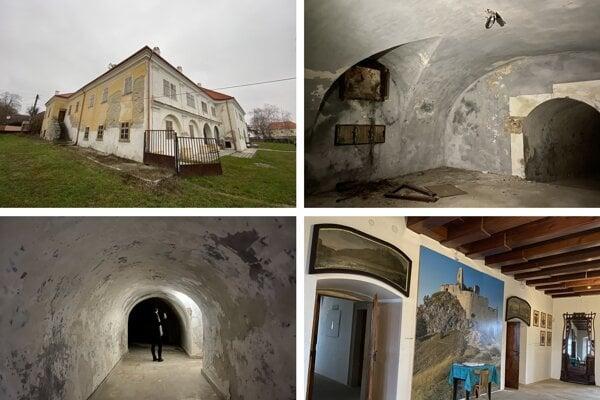 Draškovičovský kaštieľ v Čachticiach a jeho podzemné priestory.