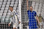 Cristiano Ronaldo v zápase Juventus - Dynamo Kyjev.