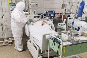 Covid ARO v nitrianskej nemocnici.