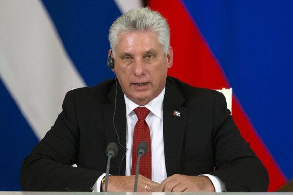 Kubánsky prezident Miguel Diaz-Canel.
