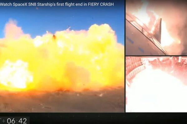 Výbuch Starshipu.