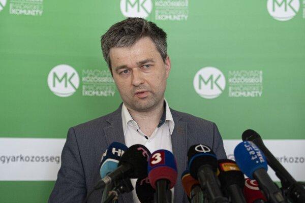 Predseda strany Spolupatričnosť Szabolcs Mózes.