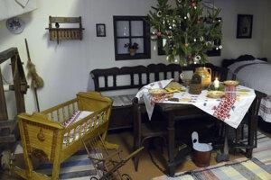 Vianočný stromček býval tradične na našom území zavesený nad stolom.