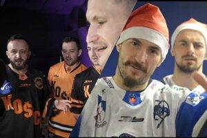 Hráči HC Košice a HK Poprad naspievali vianočné koledy.