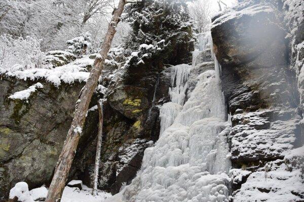 Vodopád Bystrého potoka má svoje čaro v každom ročnom období.