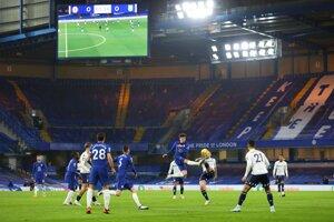 Momentka zo zápasu Premier League Chelsea FC - Aston Villa.