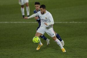Eden Hazard v zápase proti Celte Vigo.