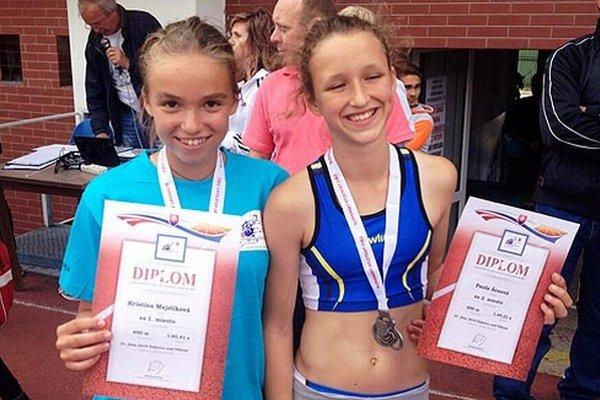 Kristína Majzlíková a Paula Ácsová obsadili prvé dve miesta v behu na 600 m.