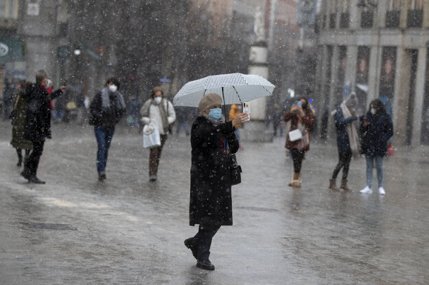 V Madride snežilo po niekoľkých rokoch.