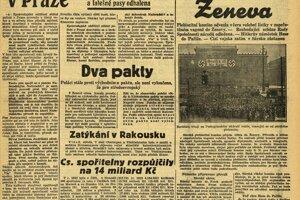 Aféra plnila titulné strany dobových novín.