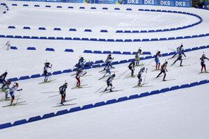 Biatlonová štafeta - Oberhof.