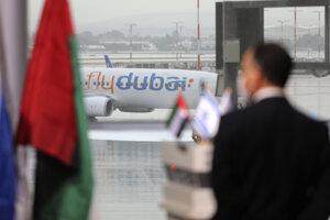 Prvý komerčný let flydubai do Izraela.