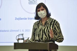 Ministerka investícií, regionálneho rozvoja a informatizácie a predsedníčka koaličnej strany Za ľudí Veronika Remišová.
