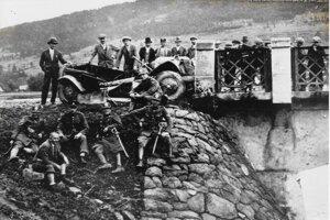 Žandári pri dopravných nehodách - Žilina a okolie (1928-29)