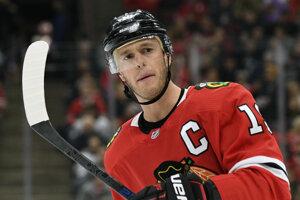 Kapitán tímu Chicago Blackhawks Jonathan Toews.