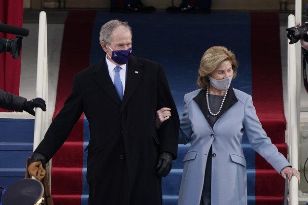 George Bush s manželkou.