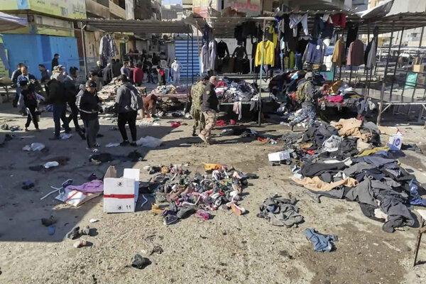 Bombový útok v Bagdade.