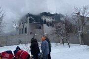 Požiar v opatrovateľskom dome.