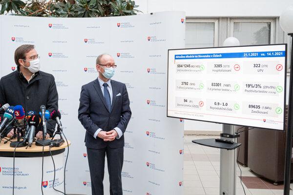 Minister Krajčí hodnotí epidemilogickú situáciu.
