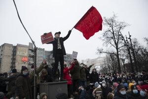 Demonštrácia v Moskve.