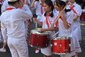 Súťaž školských kapiel v Ho Chi Minh City.