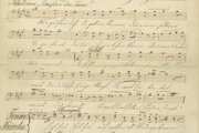 Rukopis festivalovej piesne Franza Liszta k Schillerovmu jubileu.