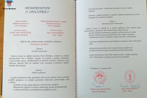 Podpísané memorandum.