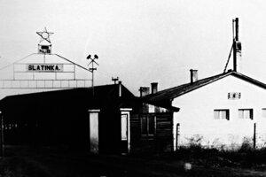 Modrokamenské uhoľné bane, štátny podnik v Pôtri, závod Slatinka, päťdesiate roky 20. storočia. ŠA BB, pobočka Veľký Krtíš.