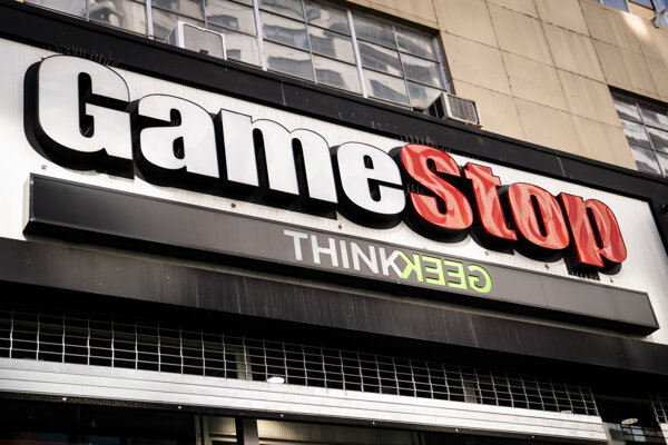 Predajňa GameStopu v New Yorku.
