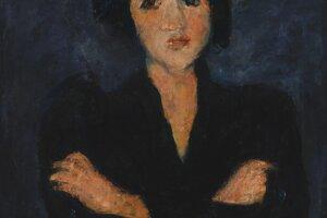 Chaim Soutine namaľoval olejomaľbu Eva v roku 1928.